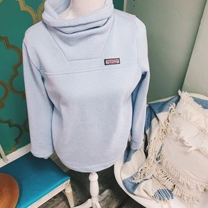 Vineyard Vines Small sweater sky blue cowl neck